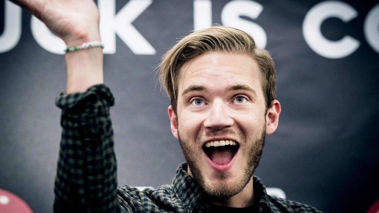 Youtubefenomenet Pewdiepie heter i virkeligheten Felix Kjellberg. Foto: Aftonbladet / IBL Bildbyrå