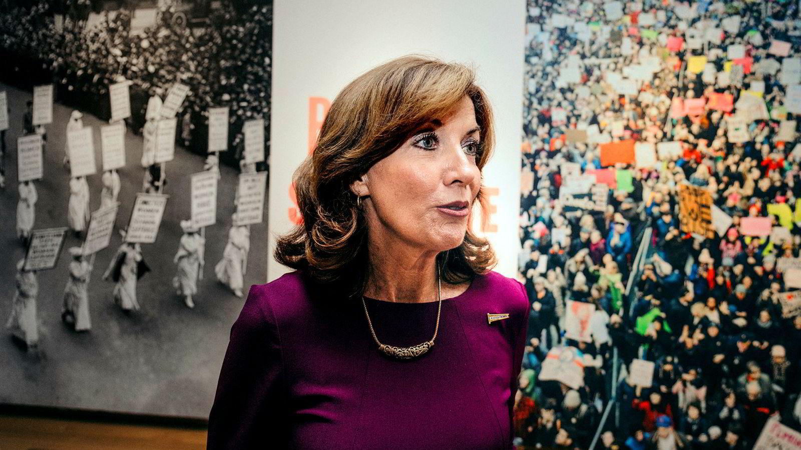Kathy Hochul, viseguvernør i New York, er rystet over omfanget av saker som omhandler overgrep og seksuell trakassering mot kvinner i arbeidslivet.