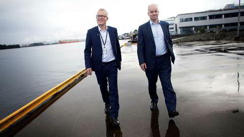 Tor Erling Gunnerød i private equity-selskapet Norvestor (til høyre) kan glede seg over at seriegründeren Egil Messmer igjen ser ut til å lykkes.