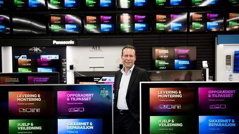 Elkjøp-sjef Jaan Ivar Semlitsch mener det er viktig å være blant de første med en nettbasert markedsplass. Foto: Per Ståle Bugjerde