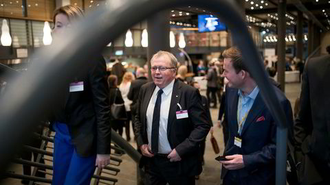 Statoil-sjef Eldar Sætre på NHOs årskonferanse.