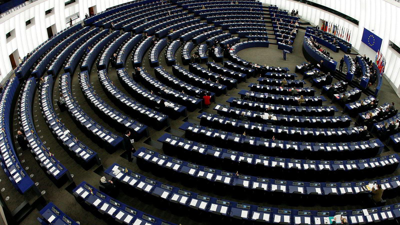 Det er en dyp kløft mellom verdier og interesser mellom øst og vest i Europa nå foran valget til Europaparlamentet, skriver artikkelforfatteren. Bildet er fra plenumssalen.