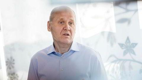 Konsernsjef i Telenor Sigve Brekke under kvartalspresentasjon hos Telenor.