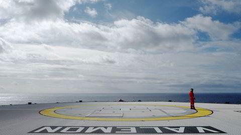 Tanken om karbonfangst og -lagring er etter mange års forskning og politiske diskusjoner ikke kommet i nærheten av å bli realisert i et omfang som vil monne, skriver artikkelforfatterne. Her fra åpningen av Valemon-plattformen i den nordlige delen av Nordsjøen i 2015.