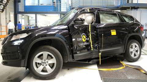 Skoda Kodiaq fikk fem stjerner da de nylig ble testet av Euro NCAP.