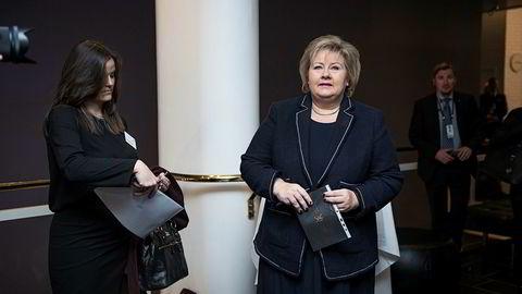 Nå avviser statsminister Erna Solberg en diskusjon om petroleumsskatten.