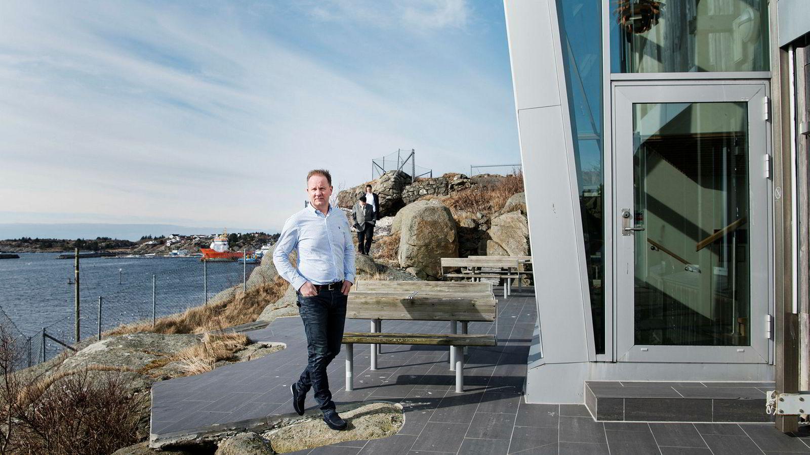 Administrerende direktør Lars Peder Solstad i Solstad Offshore, her ved selskapets hovedkontor i Skudeneshavn.