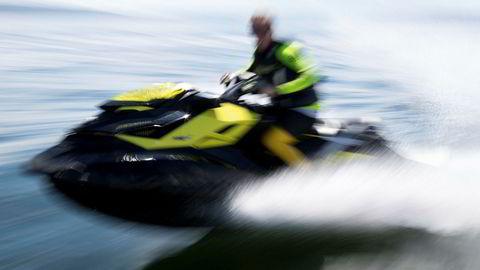 Illustrasjonsbilde. Erik Skaar kjører vannscooter i indre Oslofjord. Foto: Torstein Bøe / NTB scanpixNB! MODELLKLARERT