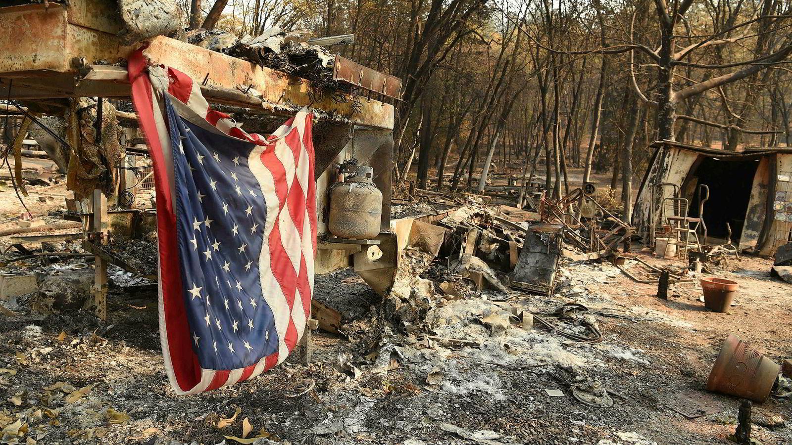 Klimaendringene vil koste USA hundrevis av milliarder dollar i årene som kommer, ifølge en ny rapport. Her fra den nedbrente byen Paradise i California.