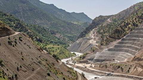 Her bygger Statkraft en 140 meter høy demning i Tyrkia. Foto: Aleksander Nordahl