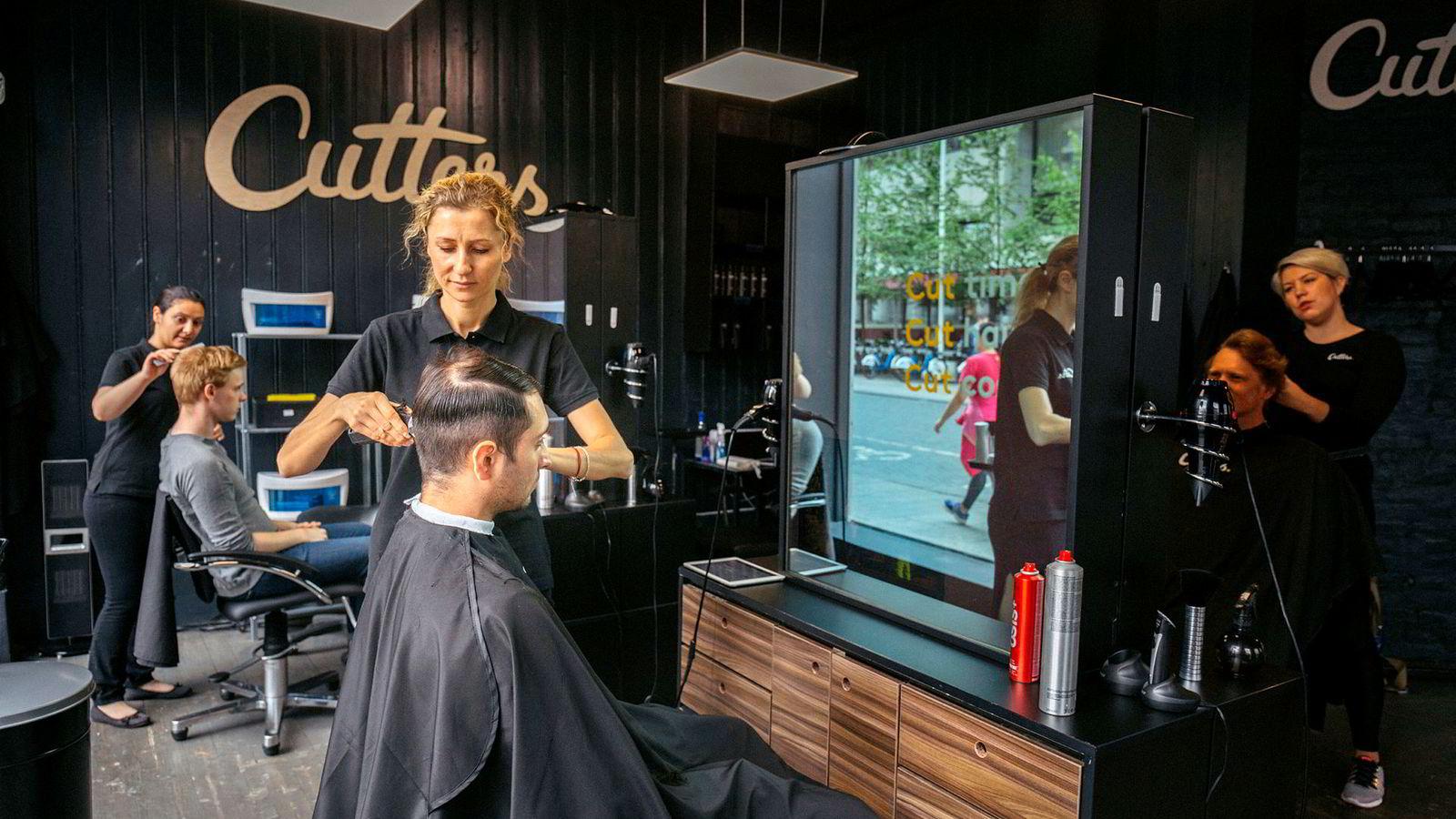 Frisørkonseptet Cutters har bare en liten del av totalmarkedet i Norge, men har vokst oppsiktsvekkende raskt for en nystartet frisørkjede.
