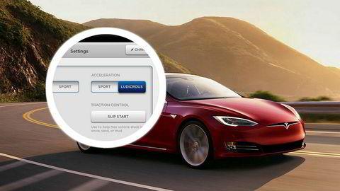 Tesla strømlinjeformer modellutvalget samtidig som ekstrem-ytelsen «ludicrous» prises separat til 125.000 kroner.