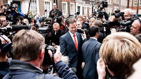 HAR LØSNING. Visestatsminister Nick Clegg ønsker å få fart på boligbyggingen for å dempe prisveksten i boligmarkedet. Foto: Jeff Gilbert