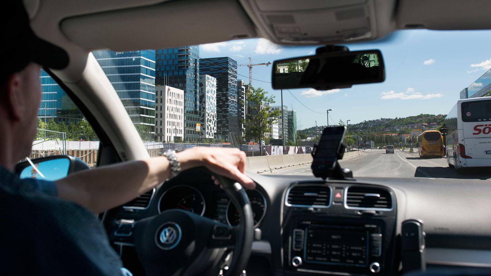 Foreløpig er Uber kun tilstede i Oslo her i Norge.