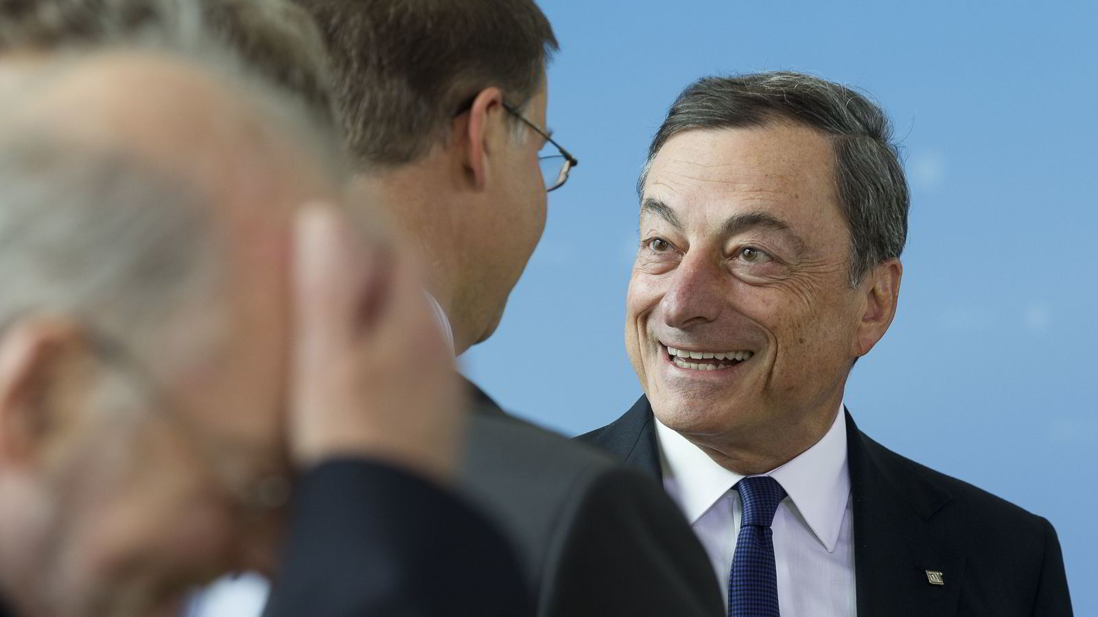 Sentralbanksjef Mario Draghi i ECB. Foto: AFP PHOTO / THIERRY MONASSE