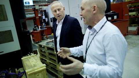 Inge Brigt Aarbakke (til venstre) og Aarbakke as skal samarbeide med Jan T. Narvestad i Rosenberg Worsley Parsons for å kapre større kontrakter.