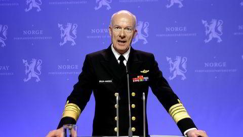 IKKE KLAR: Forsvarssjef Haakon Bruun-Hanssen. FOTO: Vidar Ruud /