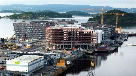 Igangsettingen av nye boliger i tredje kvartal i år er det beste tredje kvartalet som er registrert siden målingen startet i 1999. Foto: Per Ståle Bugjerde