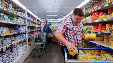 SANKSJONSSTRID. Russiske osteimportører får ikke norsk Snøfrisk.                    Foto: Maxim Shemetov, Reuters/NTB Scanpix