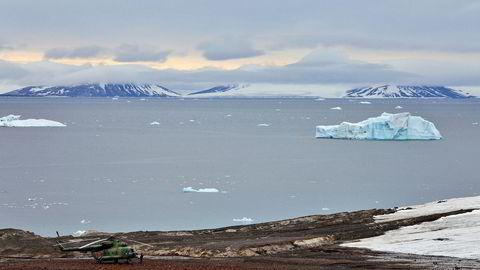 Russland vil øke skipstrafikken i Arktis, som her ved Frans Josefs land, øst for Svalbard.