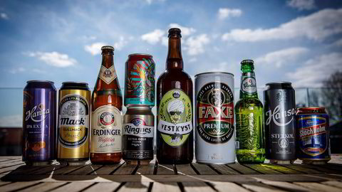De mest solgte ølene på Vinmonopolet 2018.