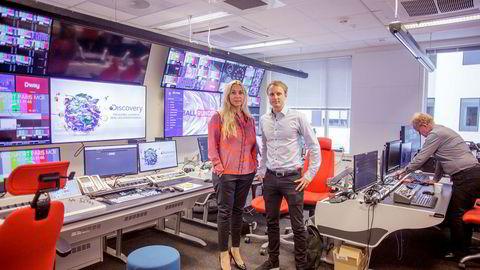 Administrerende direktør Discovery Networks Norway, Tine Austvoll Jensen og Espen Skoland, Nordisk kommunikasjonsdirektør i Discovery Networks.