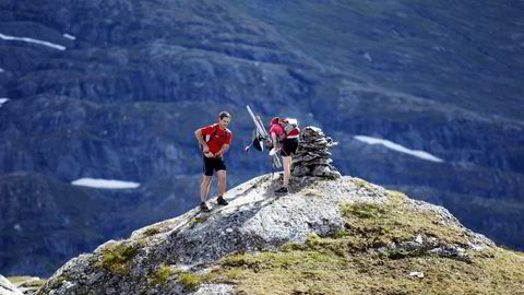 NI TOPPER: Meråker Mountain Challenge inkluderer 9 sjekkpunkter i form av fjelltopper før målgang etter 70 kilometer i Meråkerfjellene. FOTO: Hallgeir Martin Lundemo