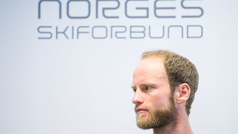 Langrennsløper Martin Johnsrud Sundby under pressekonferansen onsdag.                   Foto: Audun Braastad/