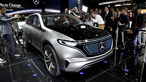 Mercedes satser tungt på sin nye modellserie EQ. Foto: Marte Christensen