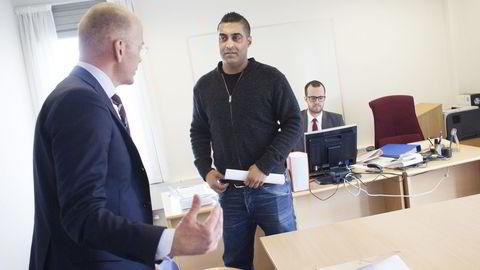 Tommy Sharif er siktet for grov bounndragelse, men nekter straffskyld