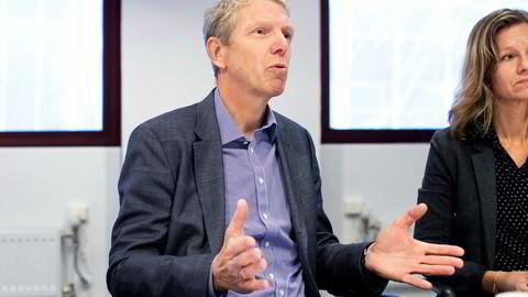 Administrerende direktør Jon Carlsen i Boligbygg Oslo går av etter høstens korrupsjonsskandale. Her sammen med kommunikasjonsdirektør Kristin Øyen i Boligbygg.