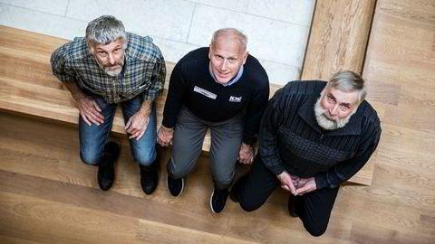 Nordisk dåd. Thomas Wassberg, Oddvar Brå og Juha Mieto skuer oppover.