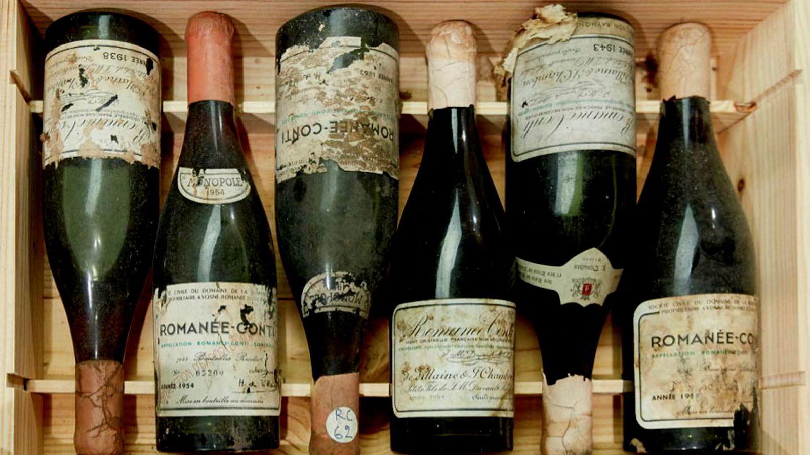 Flere Romanée-Conti-viner ble solgt på Sothebys lørdag.