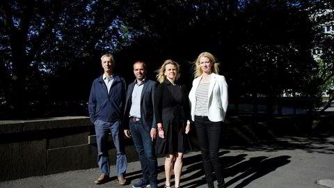 Fra venstre: Steinar Holden, Ragnar Torvik, Hilde C. Bjørnland og Kari Due-Andresen i Handelsbanken Capital Markets. Foto: Javad Parsa