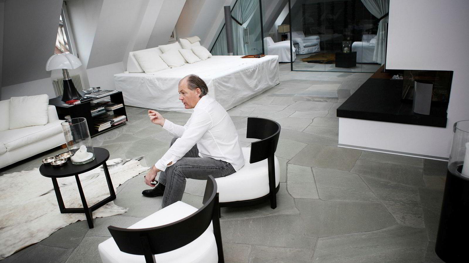 Øyvind Dahl (61) fra Vikersund har tjent en formue på internettgambling og betalingsterminaler. Bildet er tatt i Sveits i 2010.