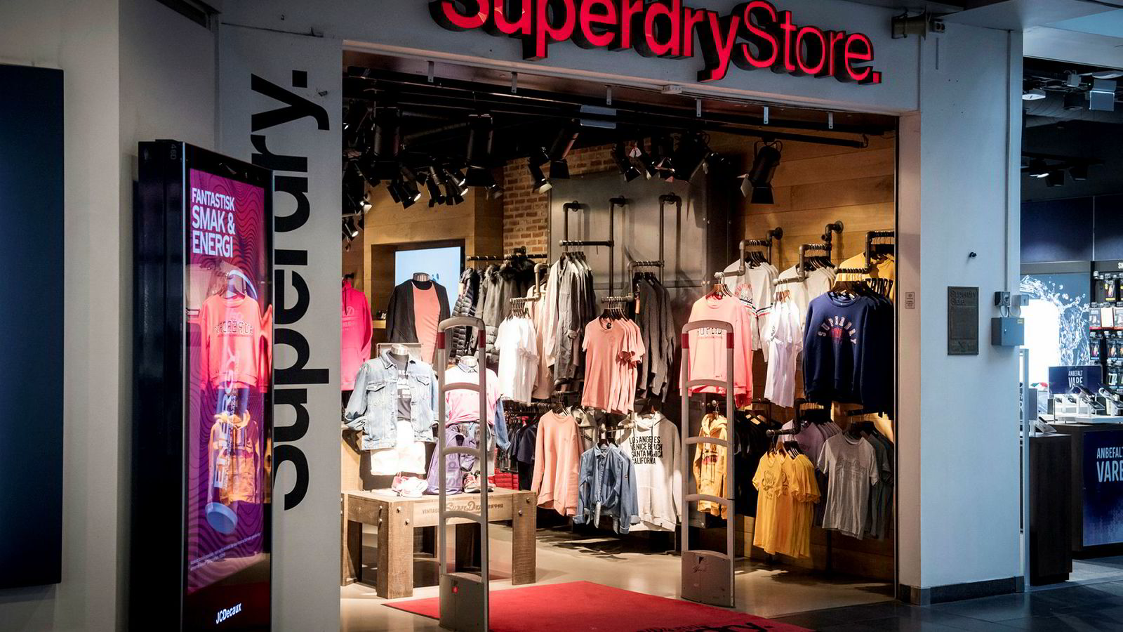 Kjedebutikkene til Superdry er konkurs. Her fra Oslo City.