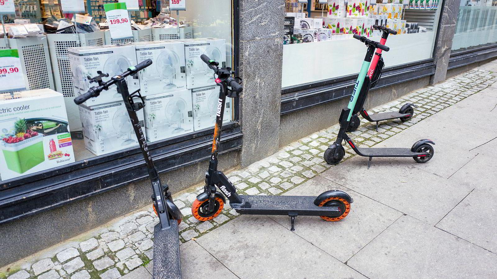 Elsparkesykler har også inntatt gater og fortau i Oslo.