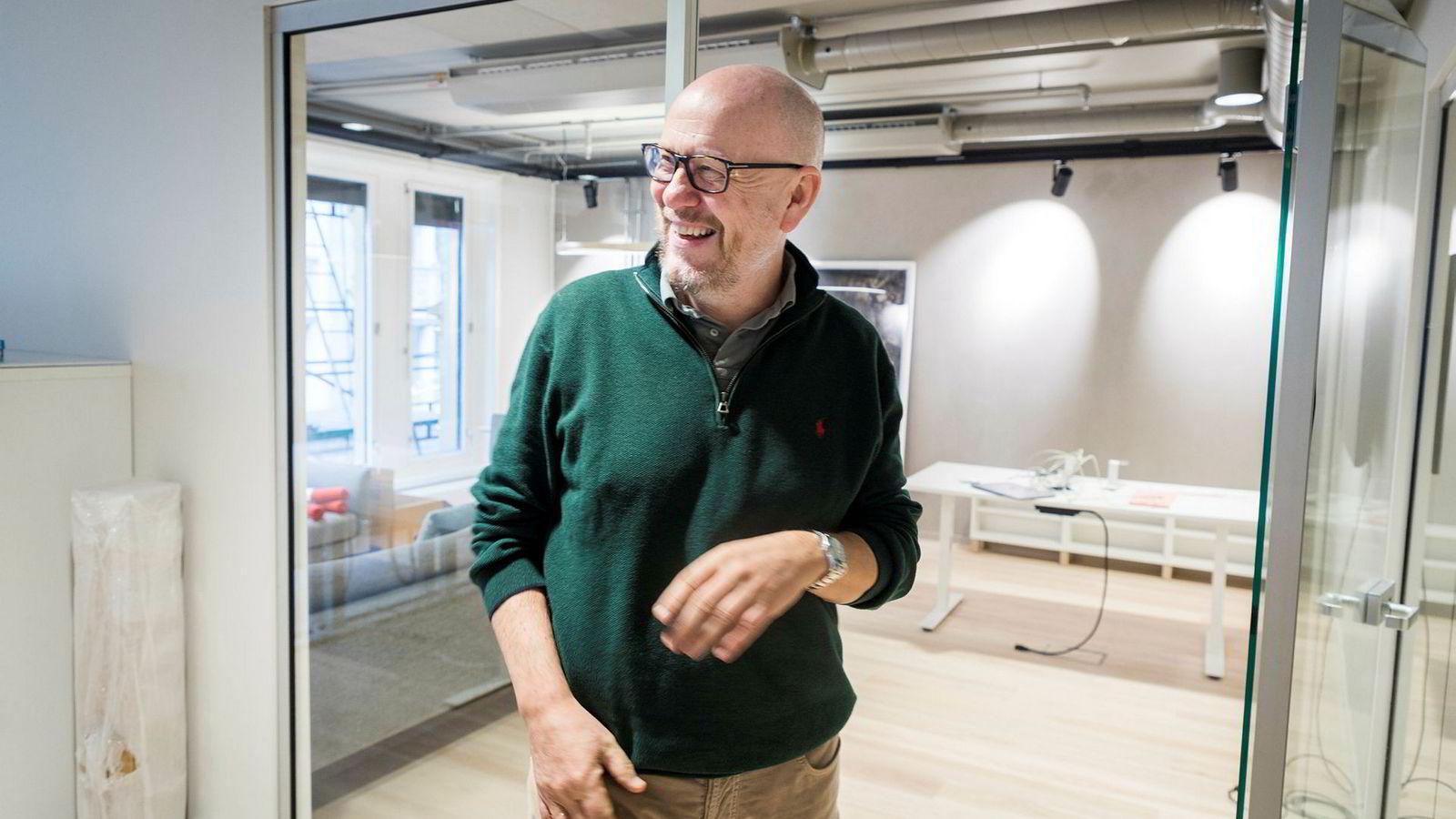 Kjetil Try på sitt nye kontor.