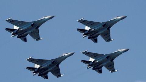 Kinas kjøp av slike Sukhoi Su-35 jagerfly fra Russland har satt sinnene i kok i Washington.