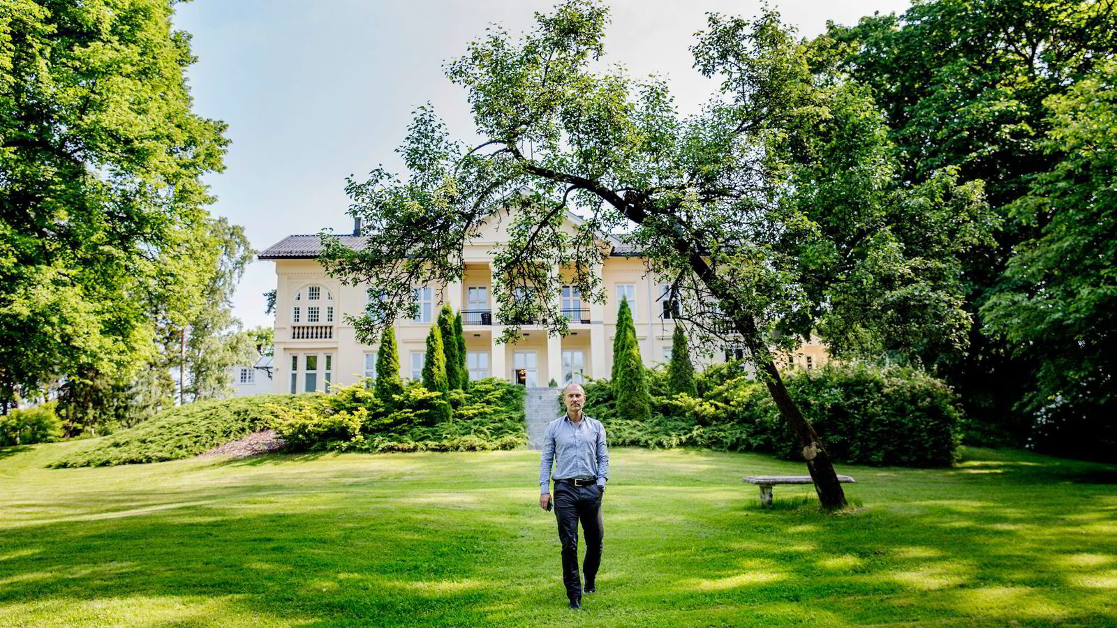 På Madserud Gård like ved Frognerparken skal Andreas Wabøs nye selskap Agera hjelpe frem nye norske gründerbedrifter. Foto: Fredrik Bjerknes