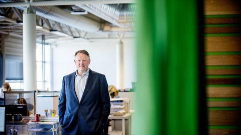 Administrerende direktør Leif J. Laugen i Krogsveen Eiendom mener Norges Bank må snakke opp renten for å dempe boligprisene. Foto: Thomas Haugersveen