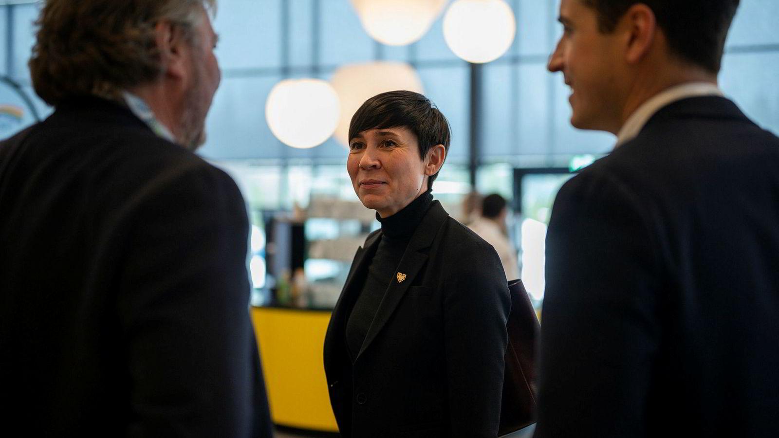 Utenriksminister Ine Eriksen Søreide på Høyres landsmøte 2019.
