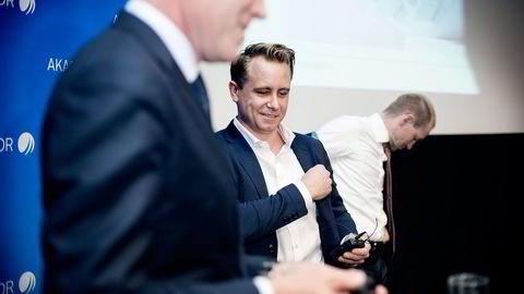 – Jeg er fornøyd med resultatet, men vi ser fremdeles et utfordrende marked over tid, sier Kristian Røkke etter fremleggingen av kvartalsresultatene. Foto: Ida von Hanno Bast