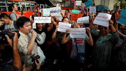 Over 800.000 thailandske velgere har undertegnet et opprop og ønsker at valgkommisjonen skal etterforskes. Det er frykt for ny politisk uro i forbindelse med at en ny regjering skal dannes – sannsynligvis først på forsommeren.