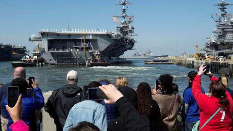Det amerikanske hangarskipet Harry S. Truman deltar nå i Nato-øvelsen Trident Juncture. Det er 26 år siden et slikt fartøy var engasjert i en øvelse i Norskehavet.