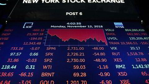 Storbanken Goldman Sachs venter en lengre periode med svak avkastning i aksjemarkedet.