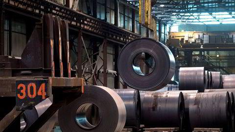 Aluminiumsprisene stiger kraftig på Russland-sanksjonene. Her fra Essar Steel Algoma i Ontario, Canada.