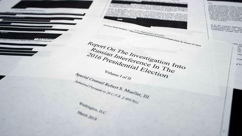 Robert Mueller har gjennomført en 22 måneder lang granskingen av antatt russisk valginnblanding. Rapporten ble fremlagt 22. mars og torsdag fikk det amerikanske folket tilgang til en sladdet versjon.