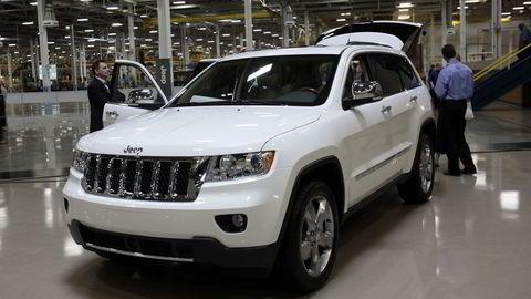 En rekke Jeep- og Dodge-biler tilbakekalles av produsenten Fiat Chrysler på grunn av feil. Foto: Rebecca Cook / Reuters / NTB scanpix