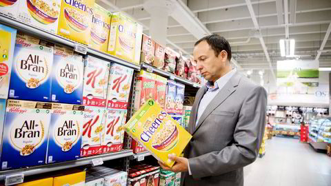 Frokostblandingen er utpekt som en av de store sukkerbombene. Nestles Norges-sjef Vladimir Wendl hevder at bildet er unyansert og viser til at sukkerinnholdet er kuttet opp mot 30 prosent.                   Foto: Mikaela Berg